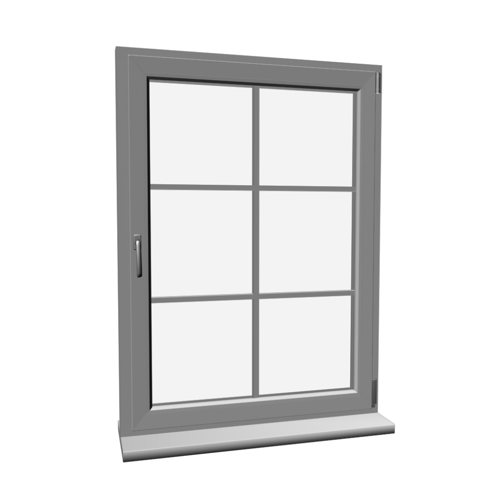 Window with glazing bar design and decorate your room in 3d for Window bars design