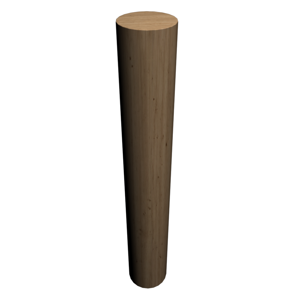 Wood log 2000 mm - Design and Decorate Your Room in 3D