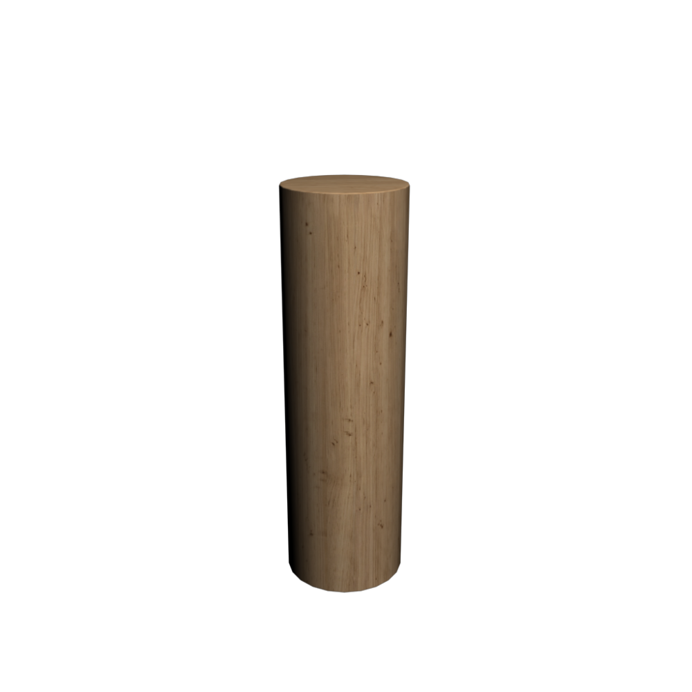 Wood log 1000 mm - Design and Decorate Your Room in 3D