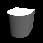 Bauelement weiß ohne Struktur für die 3D Raumplanung