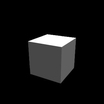 Würfel  weiß ohne Struktur