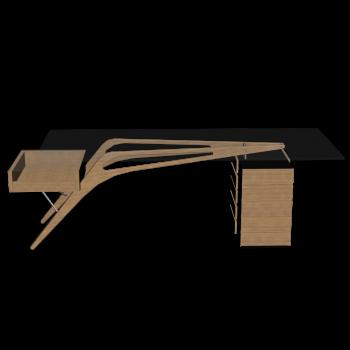 Cavour Schreibtisch von ZANOTTA