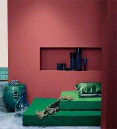 Die Kombination von Wandfarbe in Kontrasten ist ein echtes Stil-Statement und betont die Einrichtung.