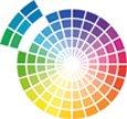 Das Farbrad zeigt wie Wandfarbe in Harmonie, d.h. mit benachbarten Farben zu einem ausgewogenen Wohnstyling kombiniert wird.