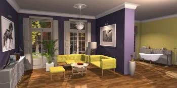 Welche Wirkung Wandfarbe entfalten kann, zeigt dieser Showroom aus dem 3D-Planer. Finde Deine Lieblingsfarbe und teste verschiedene Farbkombinationen mit den neuen Farben von Dulux in unserem Raumplaner.