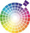 Das Farbrad zeigt wie Wandfarbe in Nuancen, d.h. in verschiedenen Abstufungen zu einer stylishen Farbgestaltung kombiniert wird.© Dulux