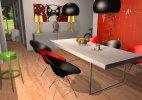 Showroom mit Kartell Plastikmöbeln von Philippe Starck, erstellt mit dem roomeon 3D-Planer© roomeon