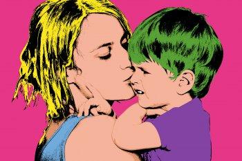 Muttertag im Personal Warhol Stil