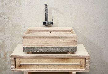 Czerny von WertWerke - Holz- und Betonwaschbecken