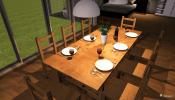 Tisch und Stühle im 3D Wohnungsplaner© Roomeon.com