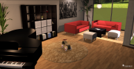 Regal und Sofas in der 3D Software     © Roomeon.com