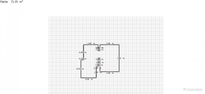 Raumgestaltung Eingang und Küche in der Kategorie Ankleidezimmer