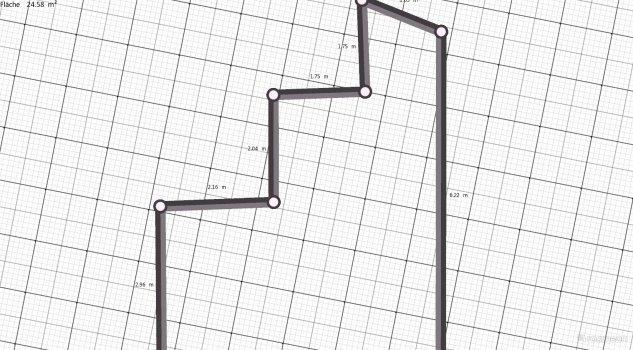 Raumgestaltung Grundrissvorlage L-Form 2 in der Kategorie Ankleidezimmer