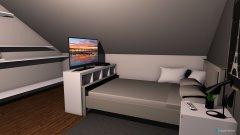 Raumgestaltung PC Zimmer mit Bett in der Kategorie Ankleidezimmer