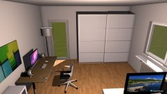 Raumgestaltung Sarahs zimmer in der Kategorie Ankleidezimmer