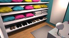Raumgestaltung Schrankraum in der Kategorie Ankleidezimmer
