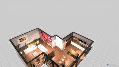 Raumgestaltung wohnraum mit pfosten in der Kategorie Ankleidezimmer
