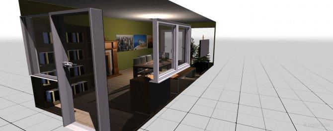 Raumgestaltung Wohnzimmer ohne Sofa in der Kategorie Ankleidezimmer