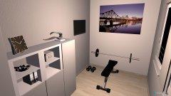 Raumgestaltung Arbeit- u. Sportzimmer in der Kategorie Arbeitszimmer