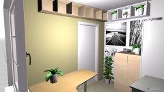 Raumgestaltung Arbeits- und Gästezimmer Variante 2 in der Kategorie Arbeitszimmer