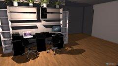 Raumgestaltung Arbeitstisch_Wohnzimmer in der Kategorie Arbeitszimmer