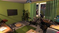 Raumgestaltung Arbeitszimmer (altes Design) in der Kategorie Arbeitszimmer