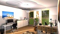 Raumgestaltung Arbeitszimmer EF in der Kategorie Arbeitszimmer