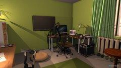 Raumgestaltung Arbeitszimmer (im alten Schlafzimmer) in der Kategorie Arbeitszimmer