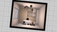 Raumgestaltung Arbeitszimmer im Schlafzimmer in der Kategorie Arbeitszimmer