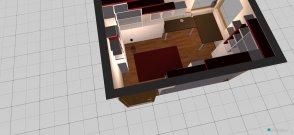 Raumgestaltung Arbeitszimmer - rot in der Kategorie Arbeitszimmer