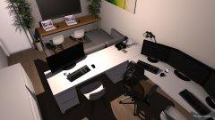 Raumgestaltung Arbeitszimmer und Wohnzimmer in der Kategorie Arbeitszimmer