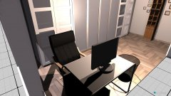 Raumgestaltung Arbeitszimmer2 in der Kategorie Arbeitszimmer