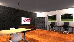Raumgestaltung AZ m. Dielenboden in der Kategorie Arbeitszimmer