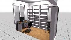 Raumgestaltung Biancas Arbeitsraum in der Kategorie Arbeitszimmer