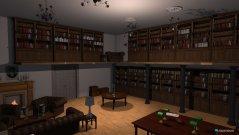 Raumgestaltung Bibliothek in der Kategorie Arbeitszimmer