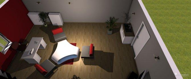 Raumgestaltung Büro Dachboden in der Kategorie Arbeitszimmer