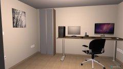 Raumgestaltung Büro Keller in der Kategorie Arbeitszimmer