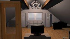 Raumgestaltung Dachgeschoss in der Kategorie Arbeitszimmer
