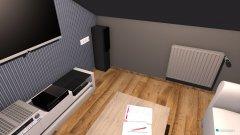 Raumgestaltung Fernsehzimmer in der Kategorie Arbeitszimmer