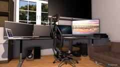 Raumgestaltung Gaming Zimmer in der Kategorie Arbeitszimmer