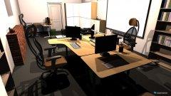 Raumgestaltung Großraumbüro in der Kategorie Arbeitszimmer