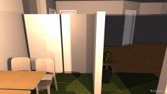 Raumgestaltung grüne Wiese mit Schränken in der Kategorie Arbeitszimmer