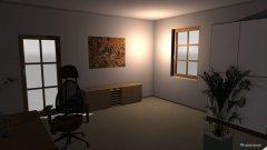 Raumgestaltung Grundrissvorlage Büro Marcel in der Kategorie Arbeitszimmer