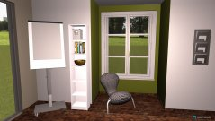 Raumgestaltung Grundrissvorlage Erker in der Kategorie Arbeitszimmer
