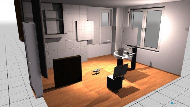 Raumgestaltung Grundrissvorlage Küche in der Kategorie Arbeitszimmer