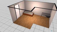 Raumgestaltung Grundrissvorlage L-Form in der Kategorie Arbeitszimmer