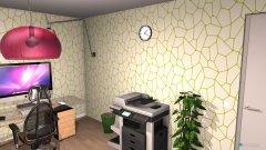 Raumgestaltung Grundrissvorlage Loft-Raum in der Kategorie Arbeitszimmer