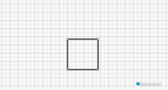 Raumgestaltung Grundrissvorlage Quadrat in der Kategorie Arbeitszimmer