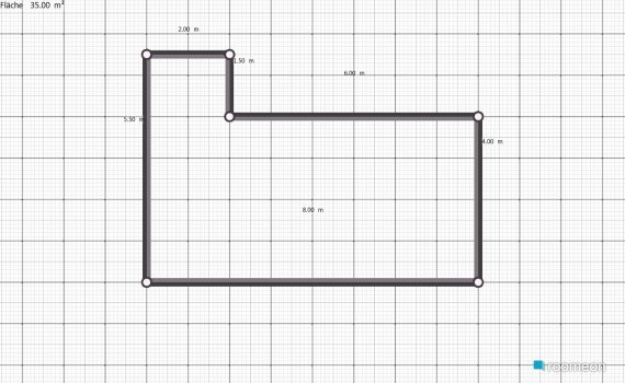 Raumgestaltung Grundrissvorlage12 in der Kategorie Arbeitszimmer