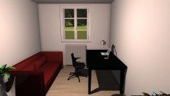 Raumgestaltung Johannas Zimmer 4 in der Kategorie Arbeitszimmer